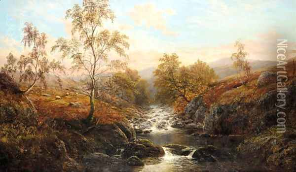 View Of Goathland, Nr. Whitby, South Yorkshire Oil Painting - William Mellor