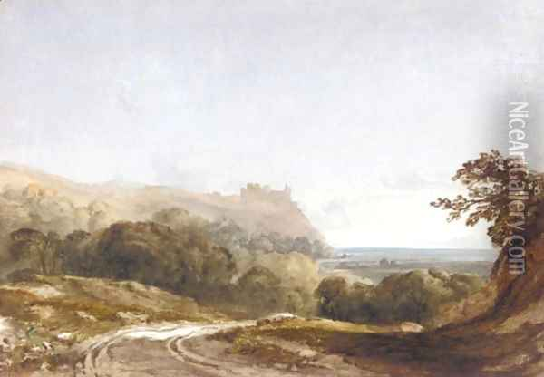 Harlech Castle From The North, Merionethshire Oil Painting - Anthony Vandyke Copley Fielding