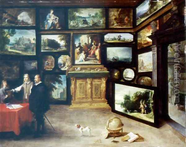 The Interior Of A Picture Gallery Oil Painting - David The Younger Teniers