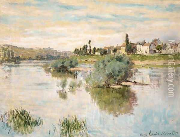 La Seine A Lavacourt Oil Painting - Claude Oscar Monet