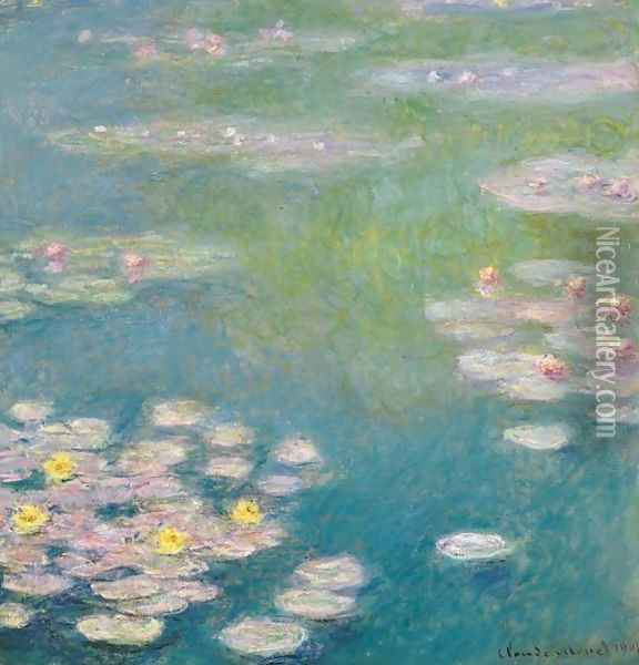 Nympheas 5 Oil Painting - Claude Oscar Monet