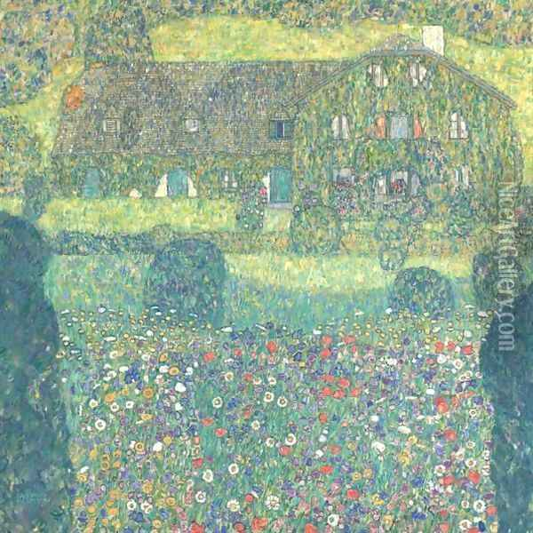 Landhaus Am Attersee Oil Painting - Gustav Klimt