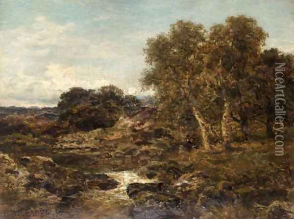 On The Llugwy, Near Capel Curig Oil Painting - Benjamin Williams Leader