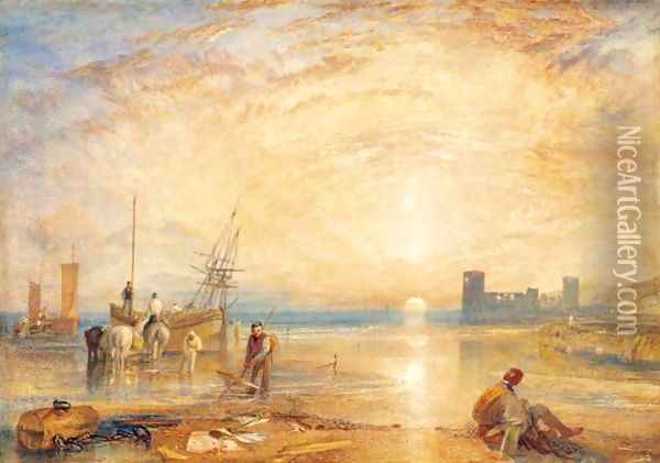 Flint Castle, North Wales Oil Painting - Joseph Mallord William Turner