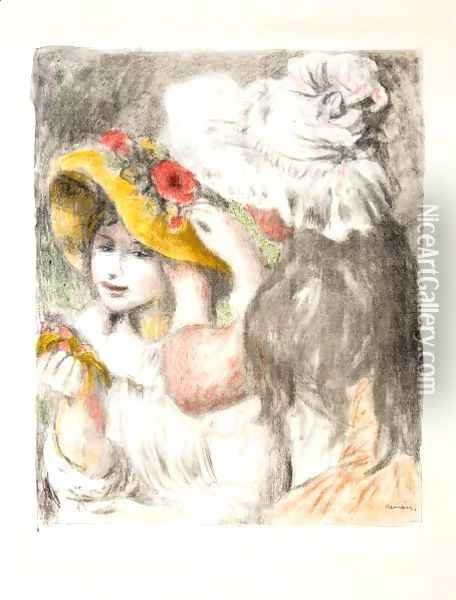 Le Chapeau Epingle 2eme Planche Oil Painting - Pierre Auguste Renoir