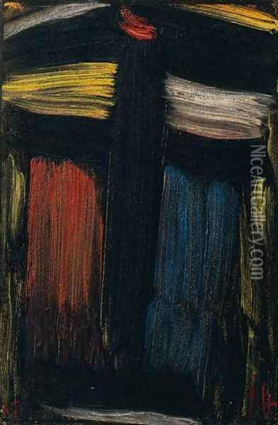 Grosse Meditation (Large Meditation) Oil Painting - Alexei Jawlensky