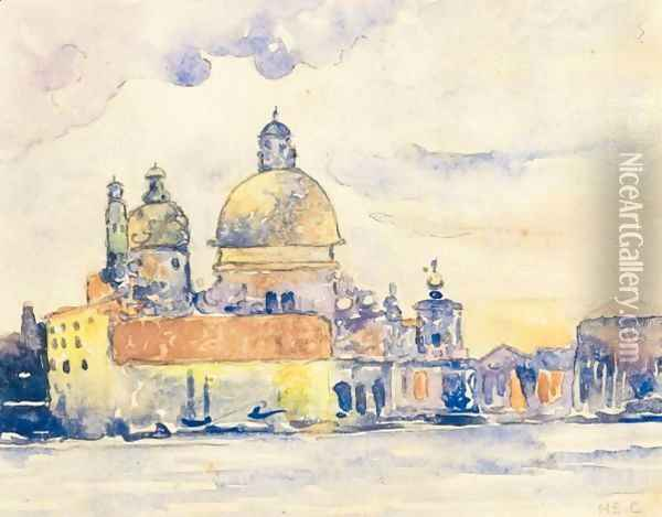 L'Eglise De La Salute, Venise Oil Painting - Henri Edmond Cross