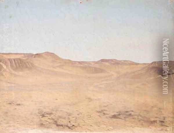Wadi (Dry River Bed) Oil Painting - Jean-Leon Gerome