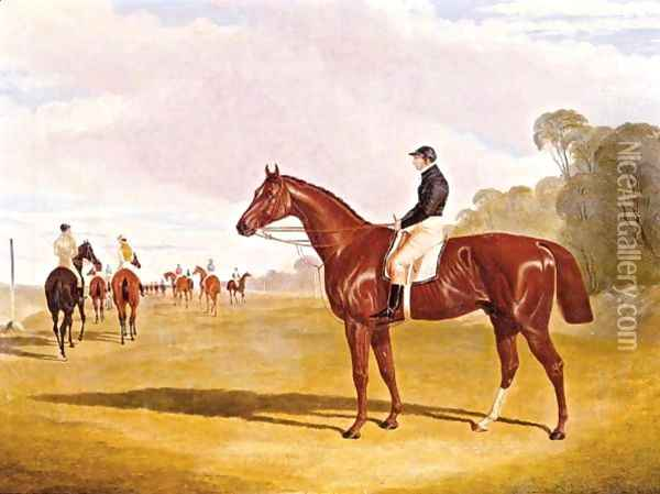 Mundig With William Scott Up, At The Start Of The 1835 Derby Oil Painting - John Frederick Herring Snr