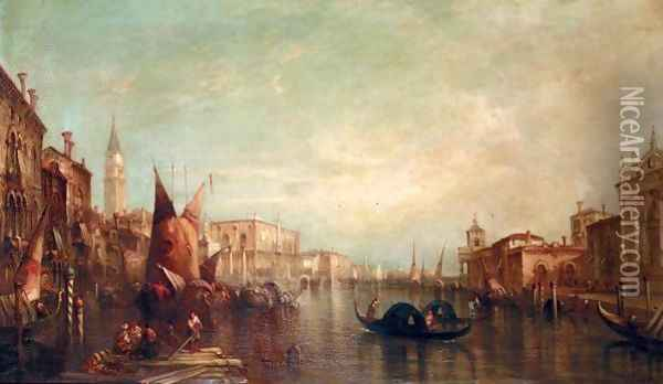 The Grand Canal, Venice 8 Oil Painting - Alfred Pollentine