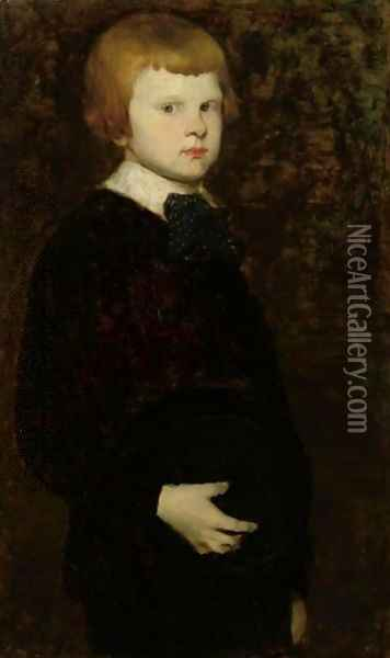 Portait Of A Young Boy (Son Of Karl Theodor Von Piloty) Oil Painting - William Merritt Chase