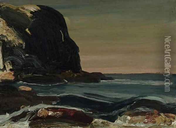 Evening Swells Oil Painting - George Wesley Bellows