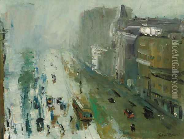 Upper Broadway Oil Painting - George Wesley Bellows