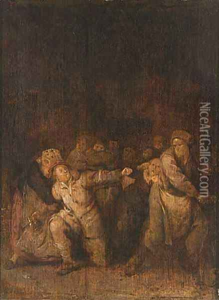 A Fight In A Tavern Oil Painting - Jan Miense Molenaer