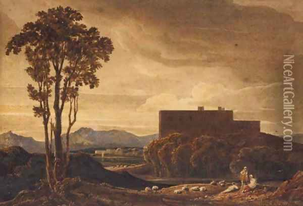 Classical Landscape Oil Painting - Anthony Vandyke Copley Fielding
