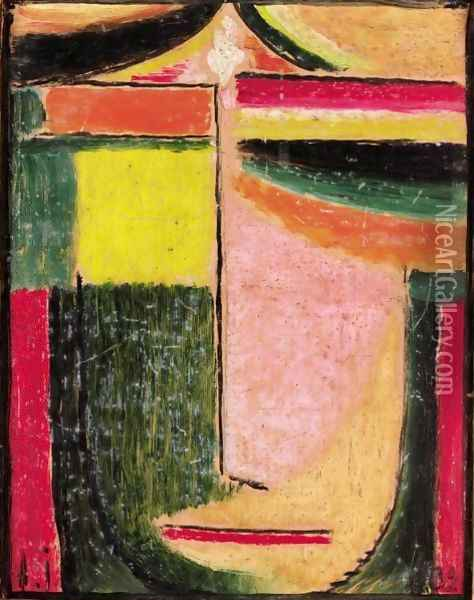 Abstrakter Kopf (Abstract Head) Oil Painting - Alexei Jawlensky