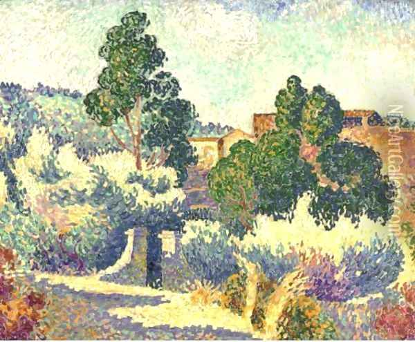Paysage De Bormes Oil Painting - Henri Edmond Cross