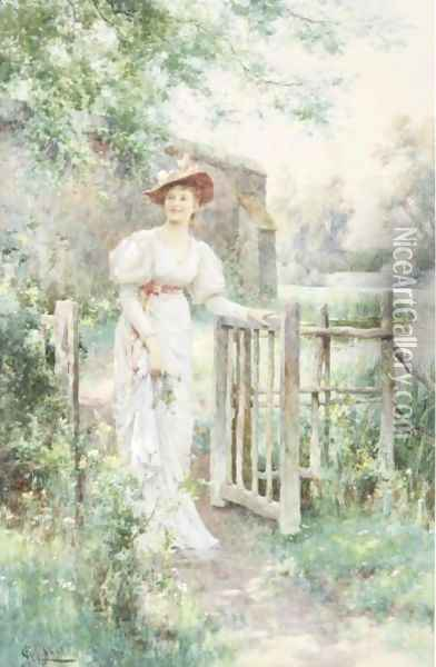 The Visitor Oil Painting - Alfred Glendening
