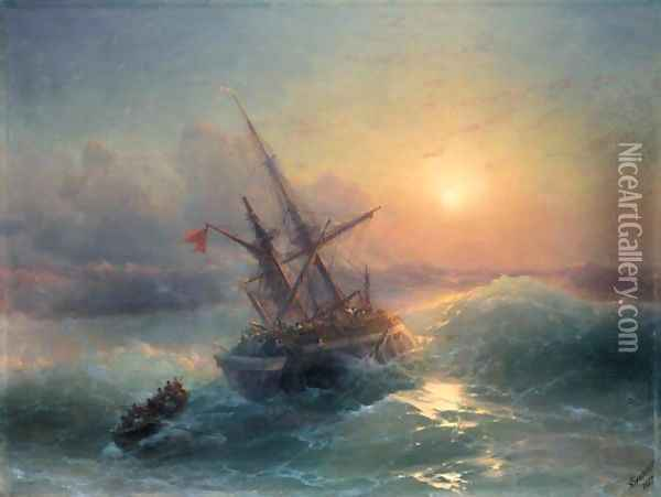 The Shipwreck 6 Oil Painting - Ivan Konstantinovich Aivazovsky