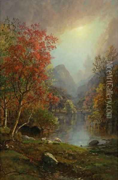 In The Ramapo Valley Oil Painting - Jasper Francis Cropsey