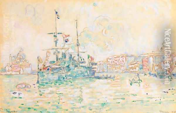 Venise 2 Oil Painting - Paul Signac