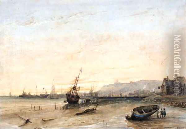 Weymouth At Sunset Oil Painting - William Wyld