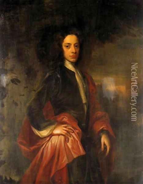 Portrait Of Charles, 9th Lord Elphinstone (1676-1738) 2 Oil Painting - William Aikman