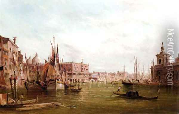 The Doge's Palace, Venice Oil Painting - Alfred Pollentine