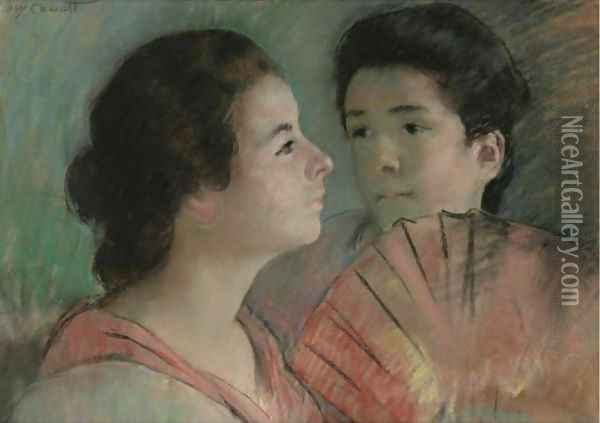 Two Sisters Oil Painting - Mary Cassatt