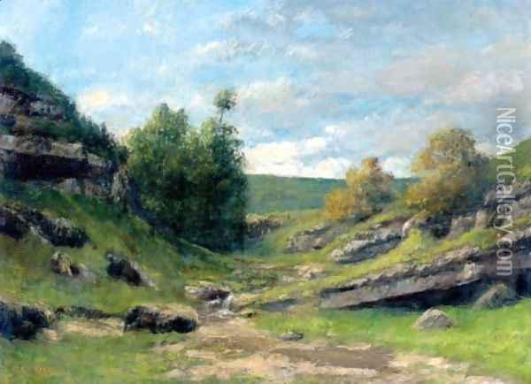 La Vallee Rocheuse Oil Painting - Gustave Courbet