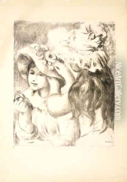 Le Chapeau Epingle 1ere Planche Oil Painting - Pierre Auguste Renoir