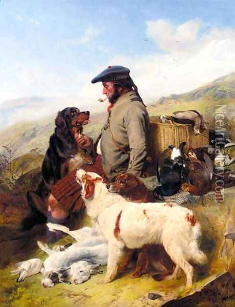 The Scotch Gamekeeper Oil Painting - Richard Ansdell