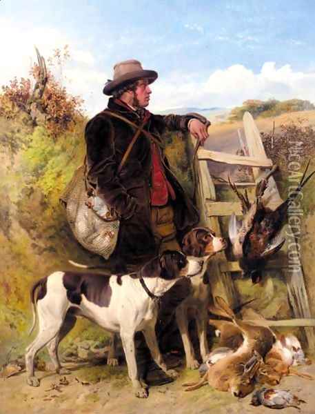 The English Gamekeeper Oil Painting - Richard Ansdell