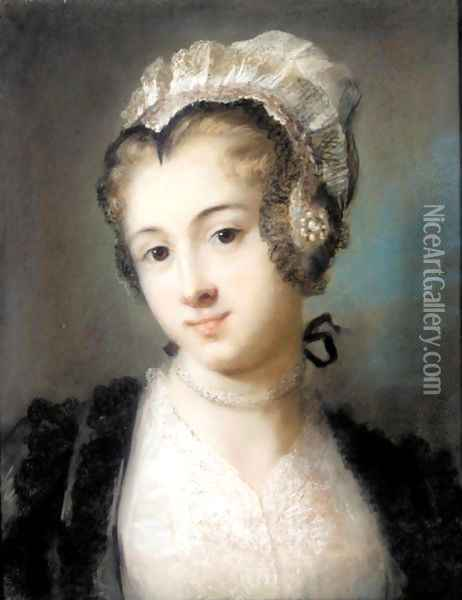 A Young Woman In Tyrolean Costume Oil Painting - Rosalba Carriera