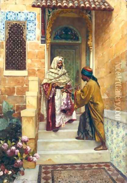 The Presentation Oil Painting - Rudolph Ernst