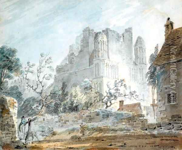 East Malling Abbey, Kent Oil Painting - Joseph Mallord William Turner