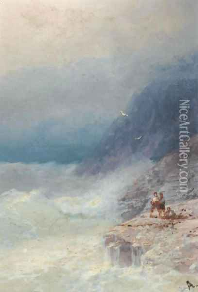 The Survivors 3 Oil Painting - Ivan Konstantinovich Aivazovsky