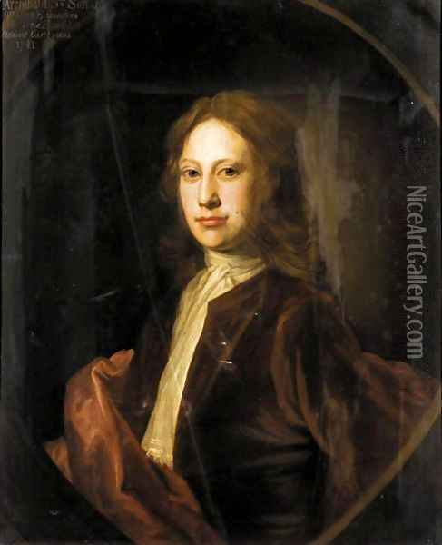 Portrait Of Archibald, 3rd Son Of Charles, 9th Lord Elphinstone (D.1741) Oil Painting - William Aikman