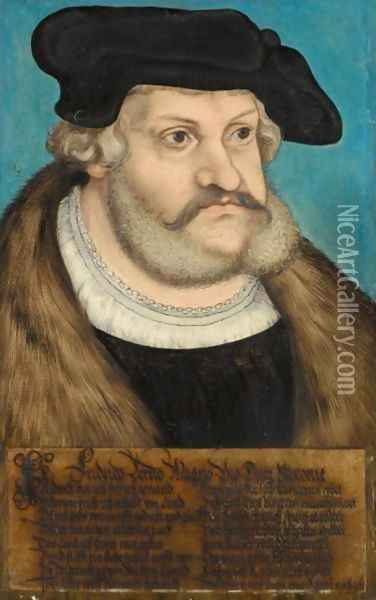 Portrait Of The Elector Frederick III 'The Wise' Of Saxony (1463-1525) 2 Oil Painting - Lucas The Elder Cranach