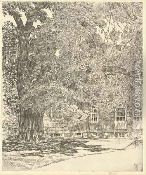 Old Mulford House Oil Painting - Frederick Childe Hassam