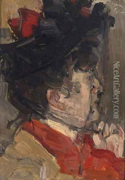 A Portrait Of Therese Schwartze Oil Painting - Isaac Israels