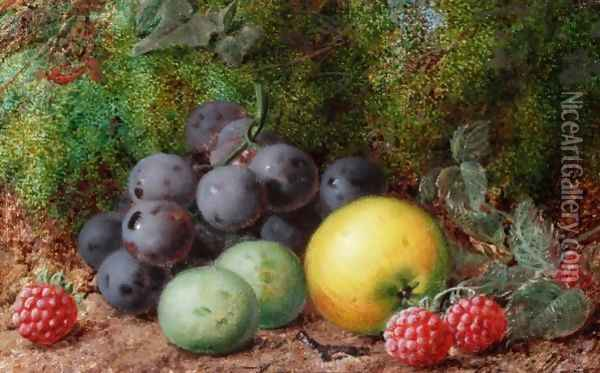 Still Life Of Fruit Oil Painting - George Clare