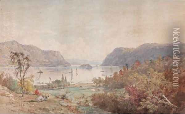 The Gates On The Hudson With Pollepel's Island Oil Painting - Jasper Francis Cropsey