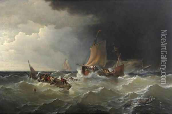 The Morning After The Gale (The Wreck) Oil Painting - Edward Moran