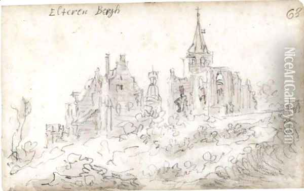 View Of Elterberg With The Abbey Partly In Ruins Oil Painting - Jan van Goyen