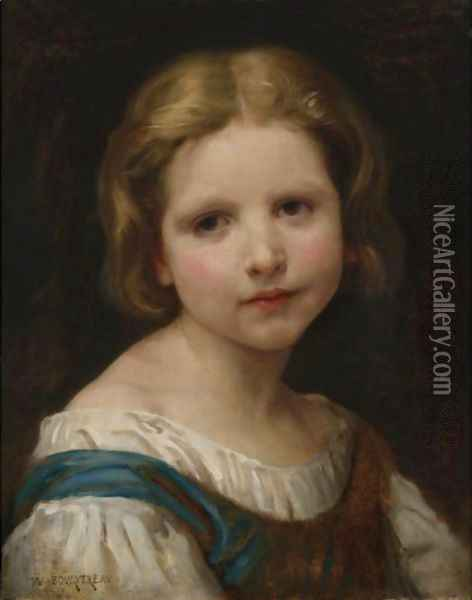 Portrait Of A Girl Oil Painting - William-Adolphe Bouguereau