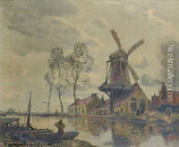 The Windmill Oil Painting - Frank Myers Boggs