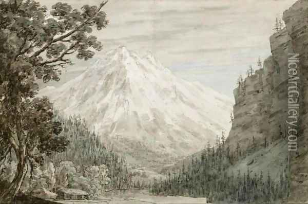Between Lauterbrunn And Grindelwald Oil Painting - John Robert Cozens
