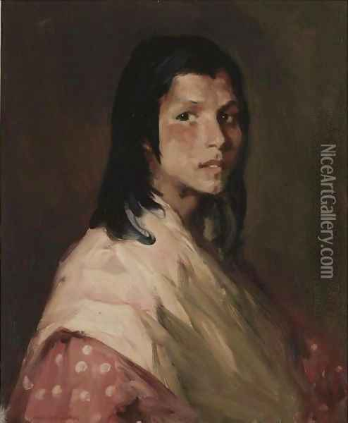 The Gypsy Girl Oil Painting - Robert Henri