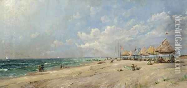 Long Beach Oil Painting - Jasper Francis Cropsey